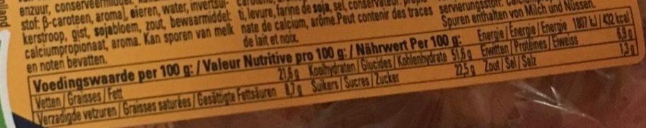 Gaufres Sucrées - Voedingswaarden
