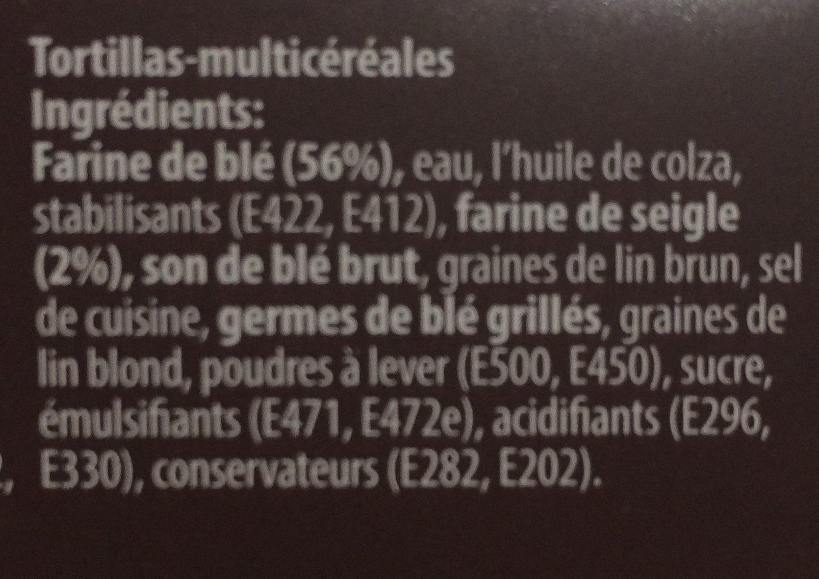 Tortilla's - Ingrédients - fr