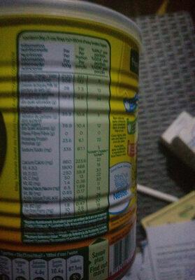 Nido Fortifié - Informations nutritionnelles - fr