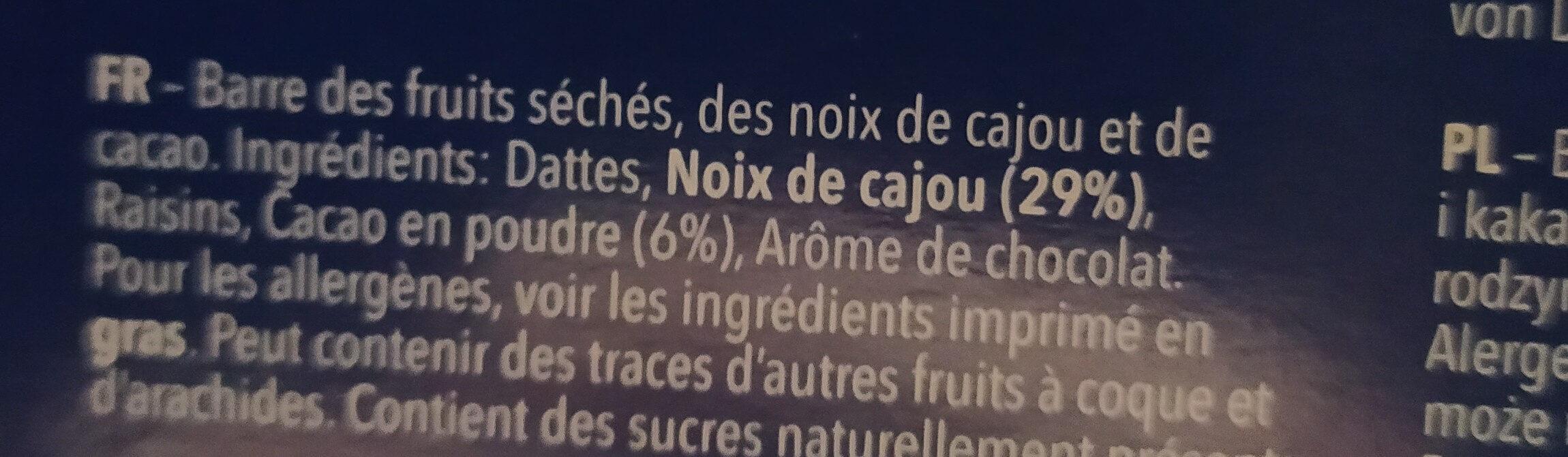 Cashew brownie - Ingrédients