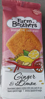 Farm Brothers Ginger & Lemon Cookies - Product
