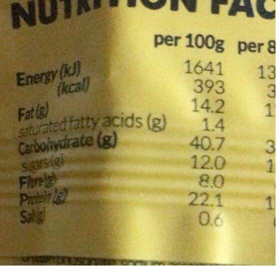 Vitaminbar banana & cinnamon - Informations nutritionnelles - fr