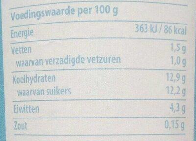 Halfvolle fruityoghurt kers - Voedingswaarden