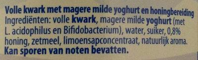 Licht gezoete volle kwark met honing - Ingredients - nl
