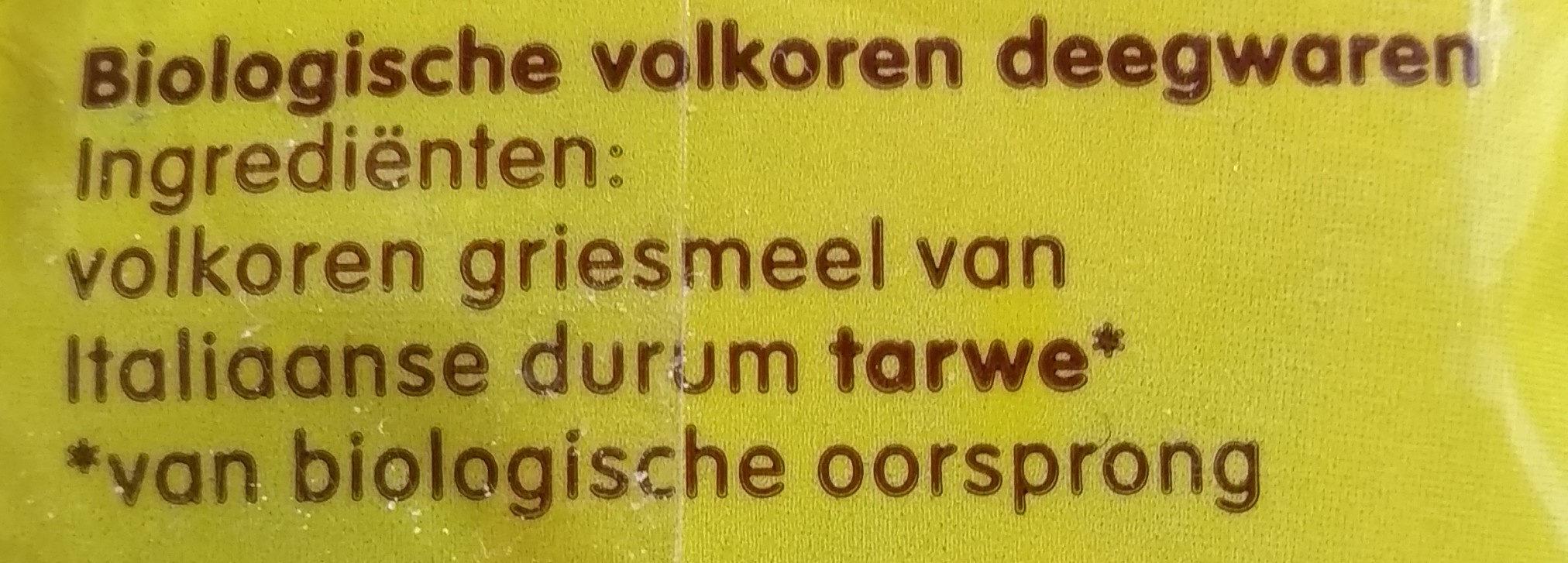 Penne rigate - Ingrediënten - nl