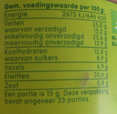 Pindakaas met stukjes pinda - Nutrition facts - en