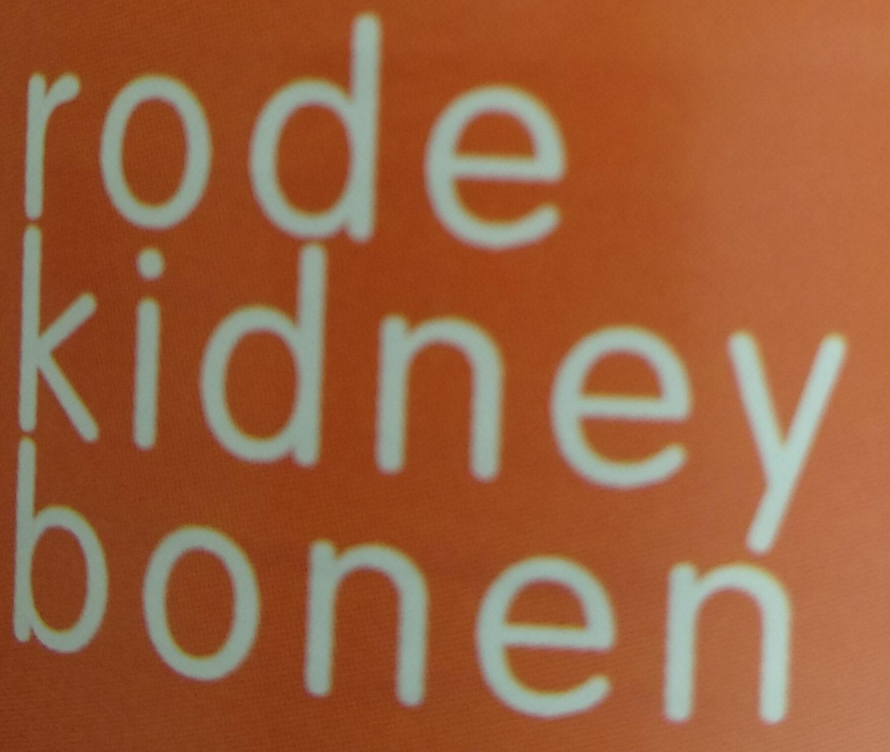 rode kidney bonen - Ingrediënten - nl