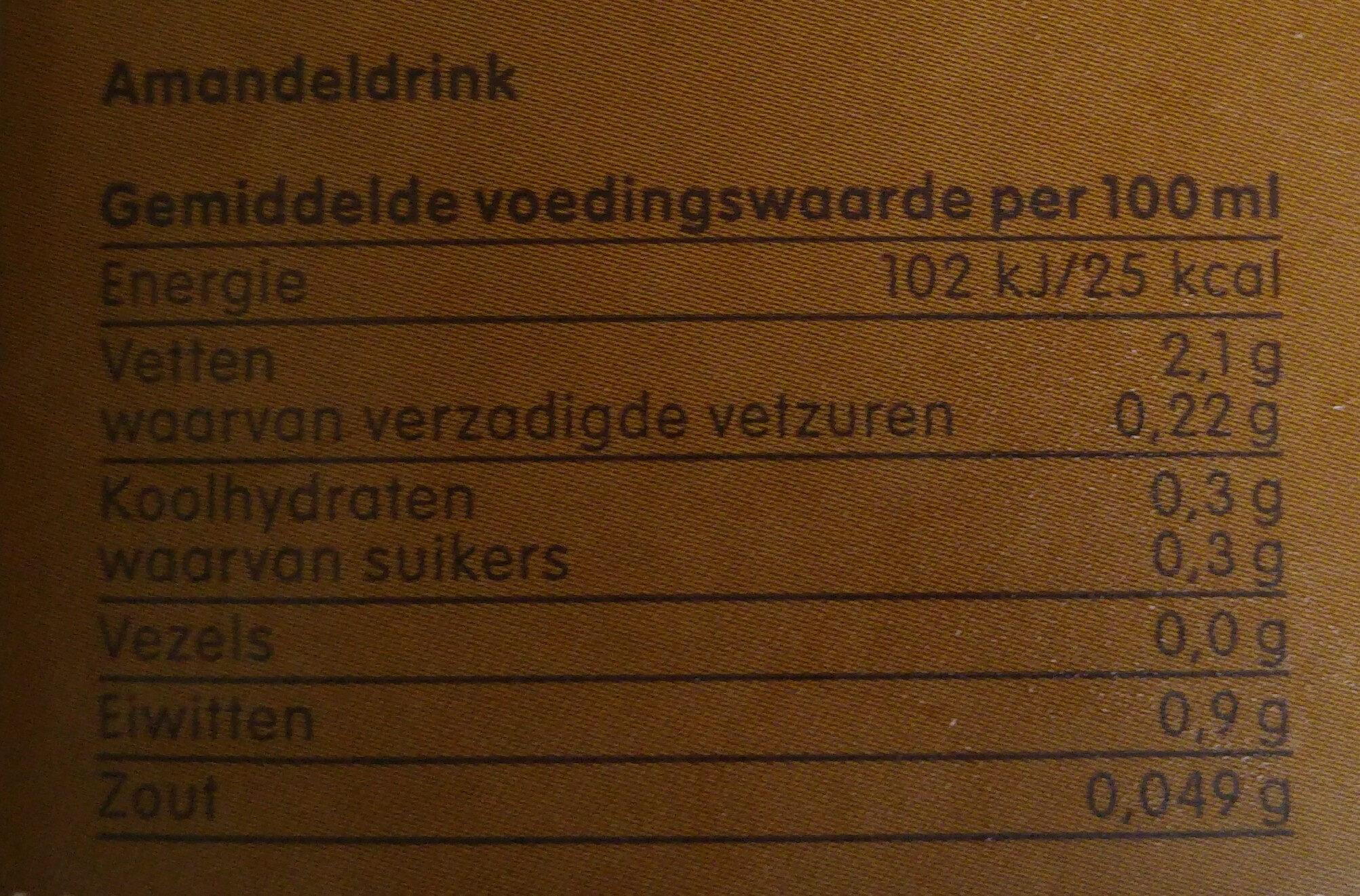 amandel drink - Voedingswaarden