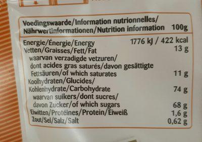 Fudge Vanille - Ingredients
