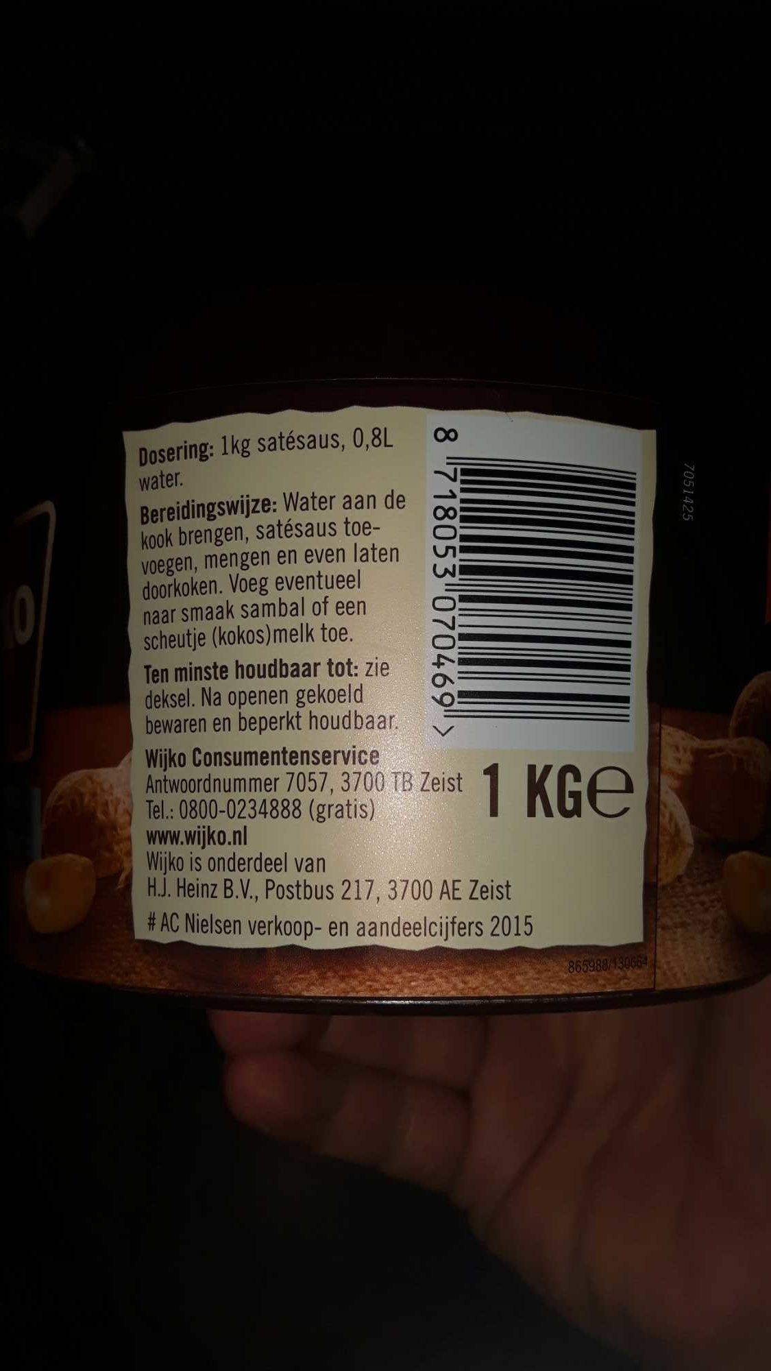 Salsa Satay - Product - en