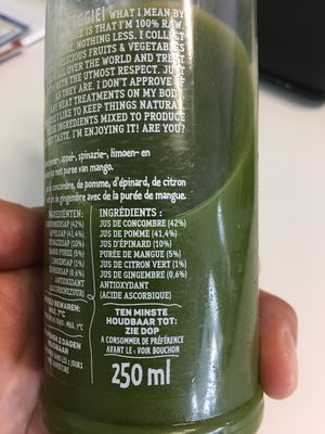 I'm Veggie - Gurke, Apfel & Spinat - Ingrediënten
