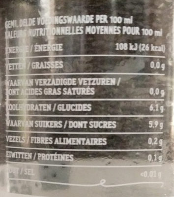 Mango Ginger Lemonade - Nutrition facts - fr