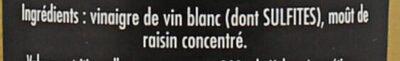 Maille Condiment Balsamique Blanc 25 cl - Ingredients - fr