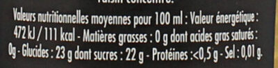 Maille Condiment Balsamique Blanc 25 cl - Nutrition facts - fr
