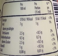 Cremefine, Zum Kochen 7% - Nutrition facts