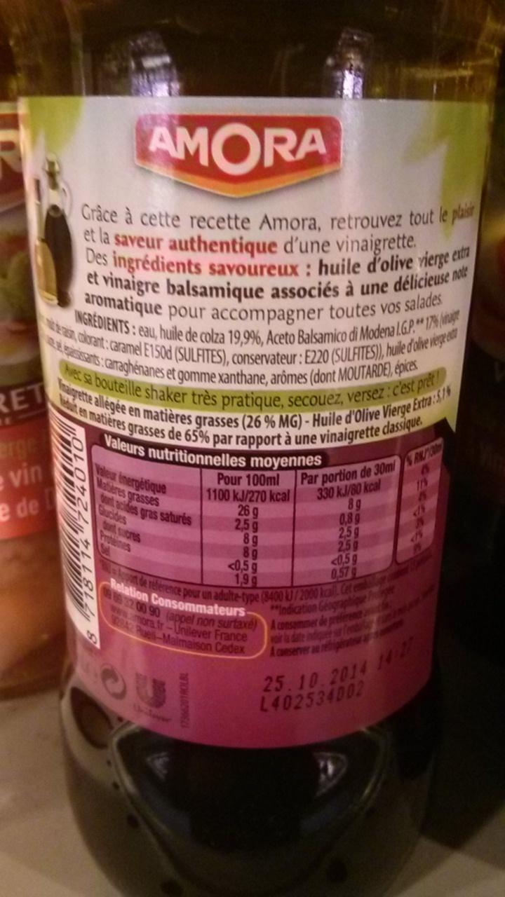 Vinaigrette Bi-Phasée Huile d'olive & Vinaigre balsamique - Produit - fr