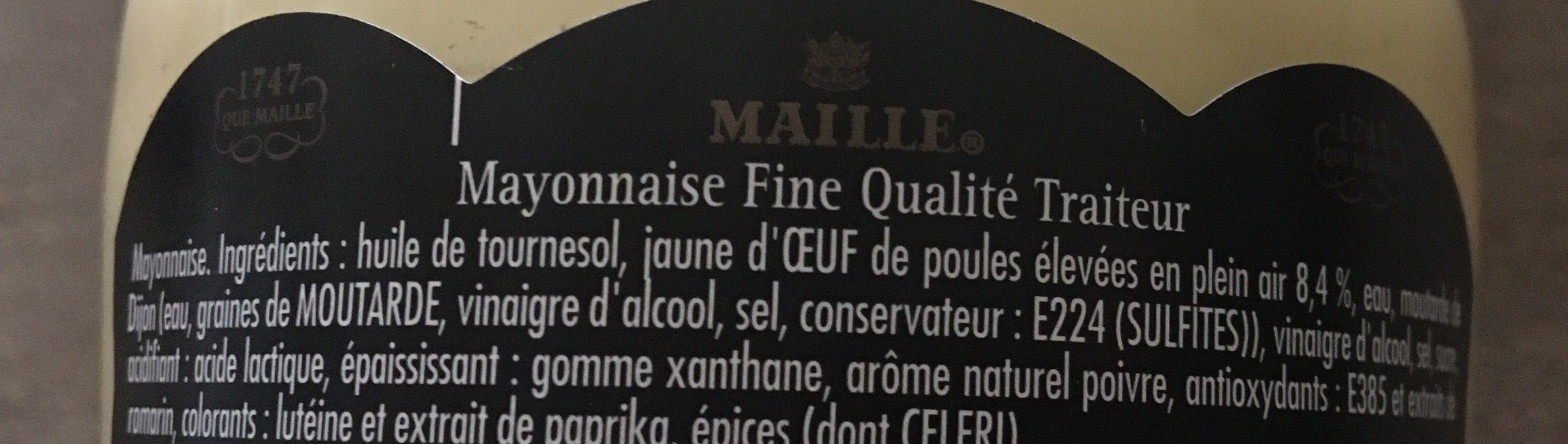 Maille Mayonnaise Fine Qualité Traiteur Bocal - Ingredients - fr