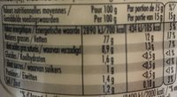 Mayonnaise fine - Nutrition facts