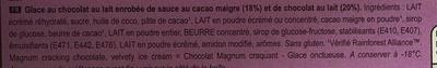 Magnum double chocolate - Ingrédients
