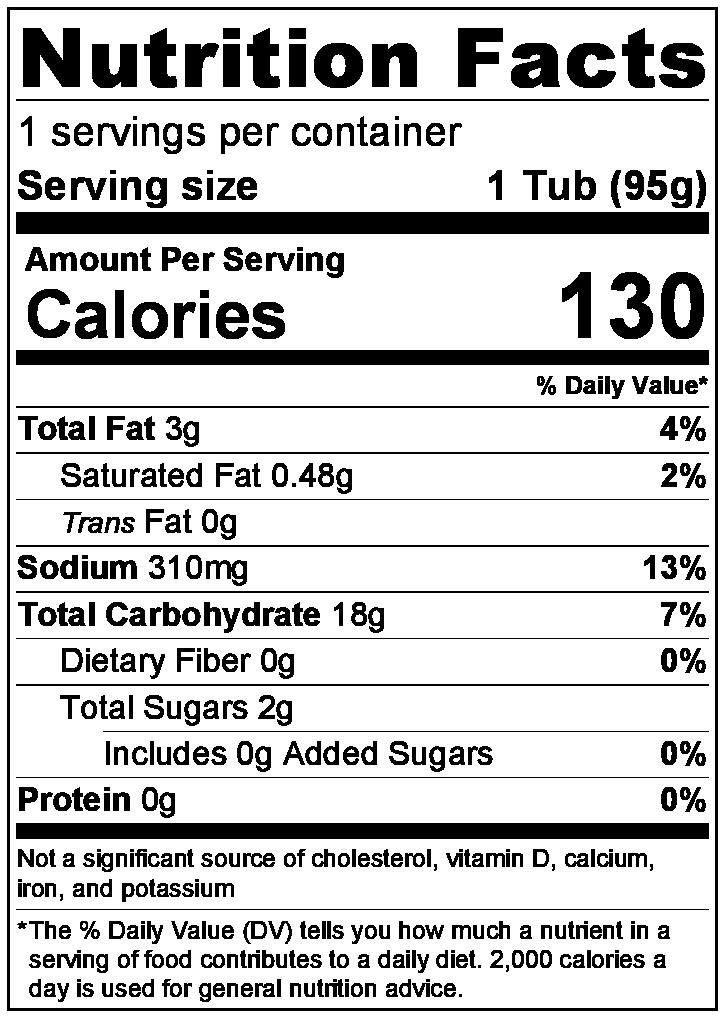 Ajam Bali - Nutrition facts