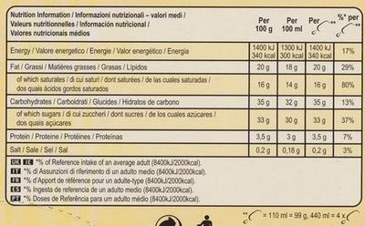 Double Caramel - Voedingswaarden - fr