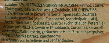 Schinken Hornli - Ingrediënten - de
