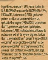 Knorr Soupe Déshydratée Velours de Tomates à la Mozzarella Sachet 3 Portions - Ingredients - fr