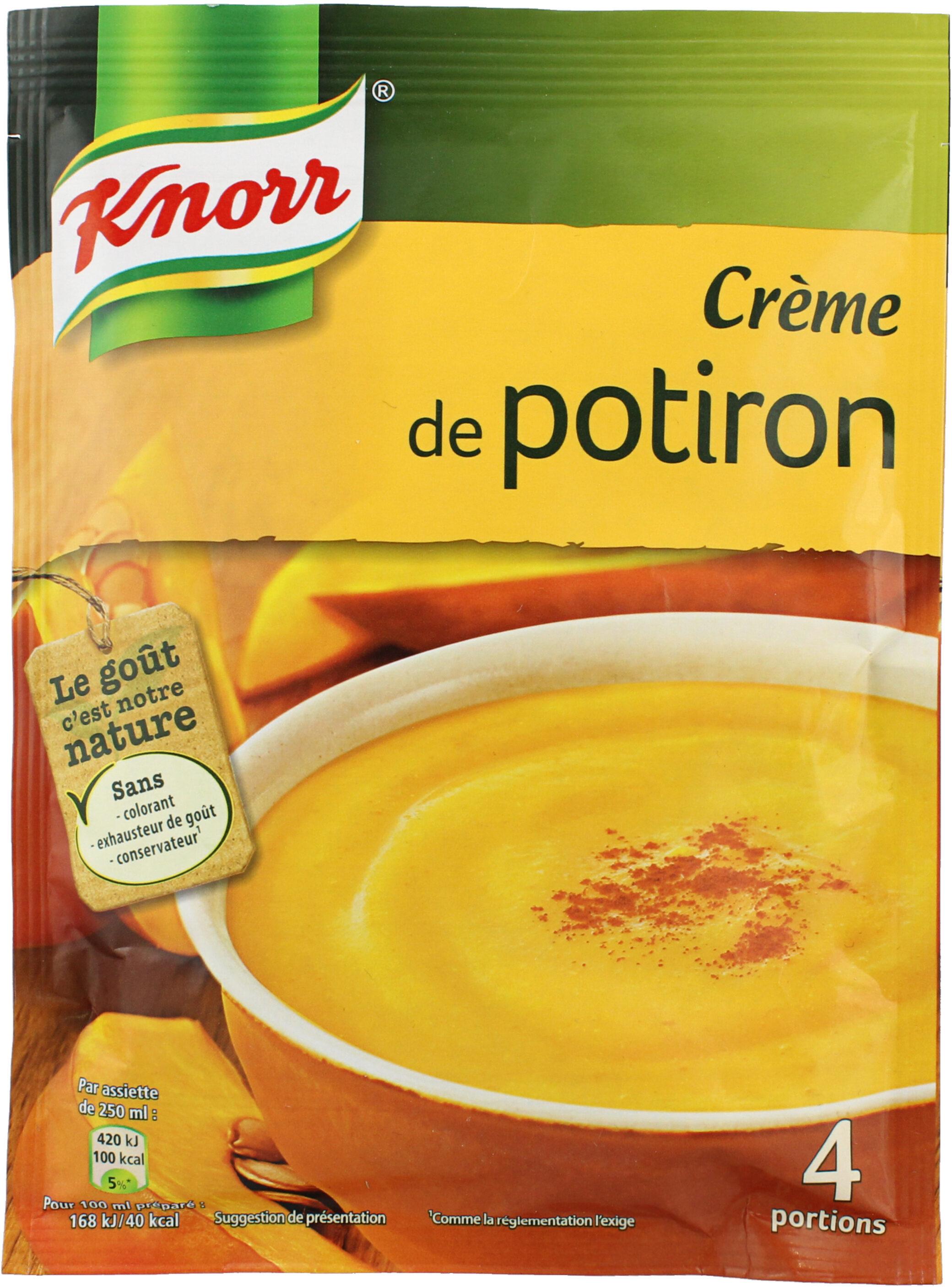 Knorr Soupe Crème de Potiron 100g 3 Portions - Produit - fr