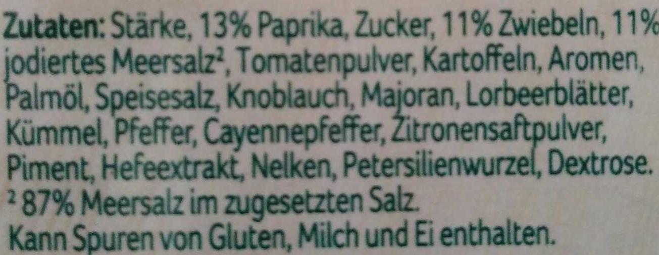 Gulasch Fix - Ingrediënten - de