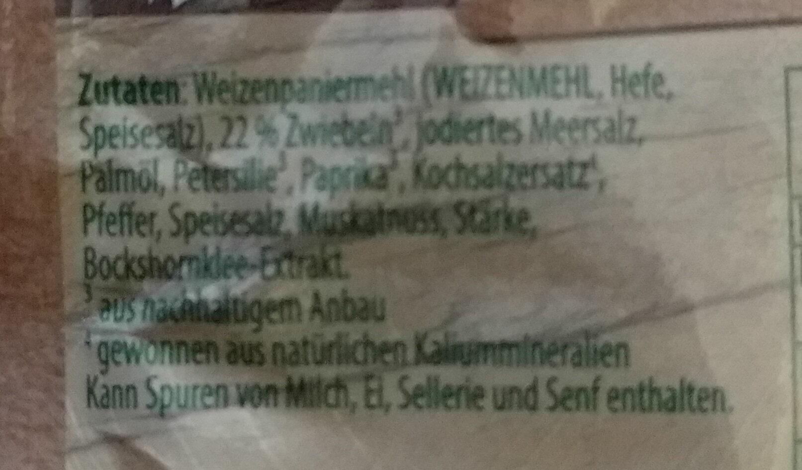 Knorr Fix, Hackbraten - Ingrédients - fr