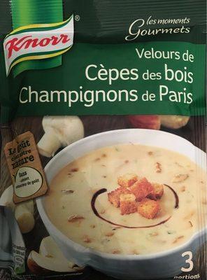 calorie Velours de cèpes des bois champignons de Paris