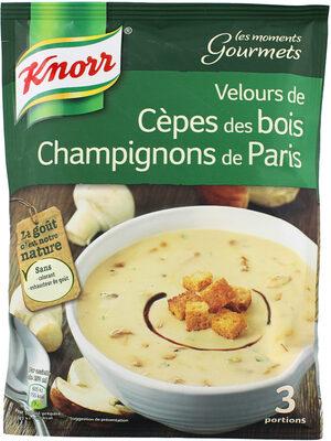 Knorr Moments Gourmets Soupe Velours de Cèpes Champignons 91g 3 Portions - Product - fr