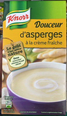 calorie Douceur d'asperges à la crème fraîche