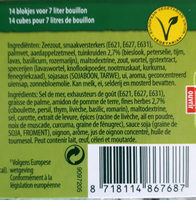 Bouillonblokjes Tuinkruiden - Ingrediënten