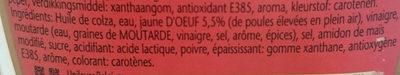 Calve Mayonnaise Au Oeufs - Ingrediënten