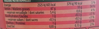 Calve Mayonnaise Au Oeufs - Voedingswaarden