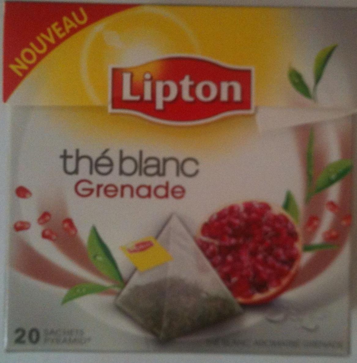 Lipton thé blanc - Grenade - Produit