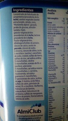 Almirón pronutra - Ingredients