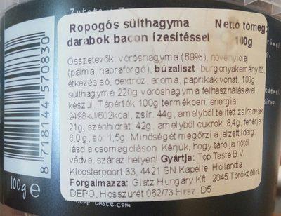 Röstzwiebeln - Ingrédients