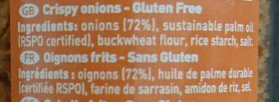 Crispy Onions - Ingredients