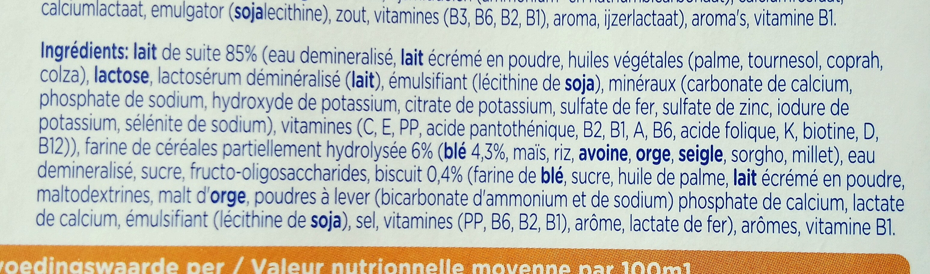 Babylac biscuit - Ingredients - fr