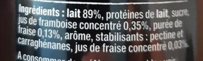 Protein Shake Rasberry & Strawberry - Ingrédients - fr