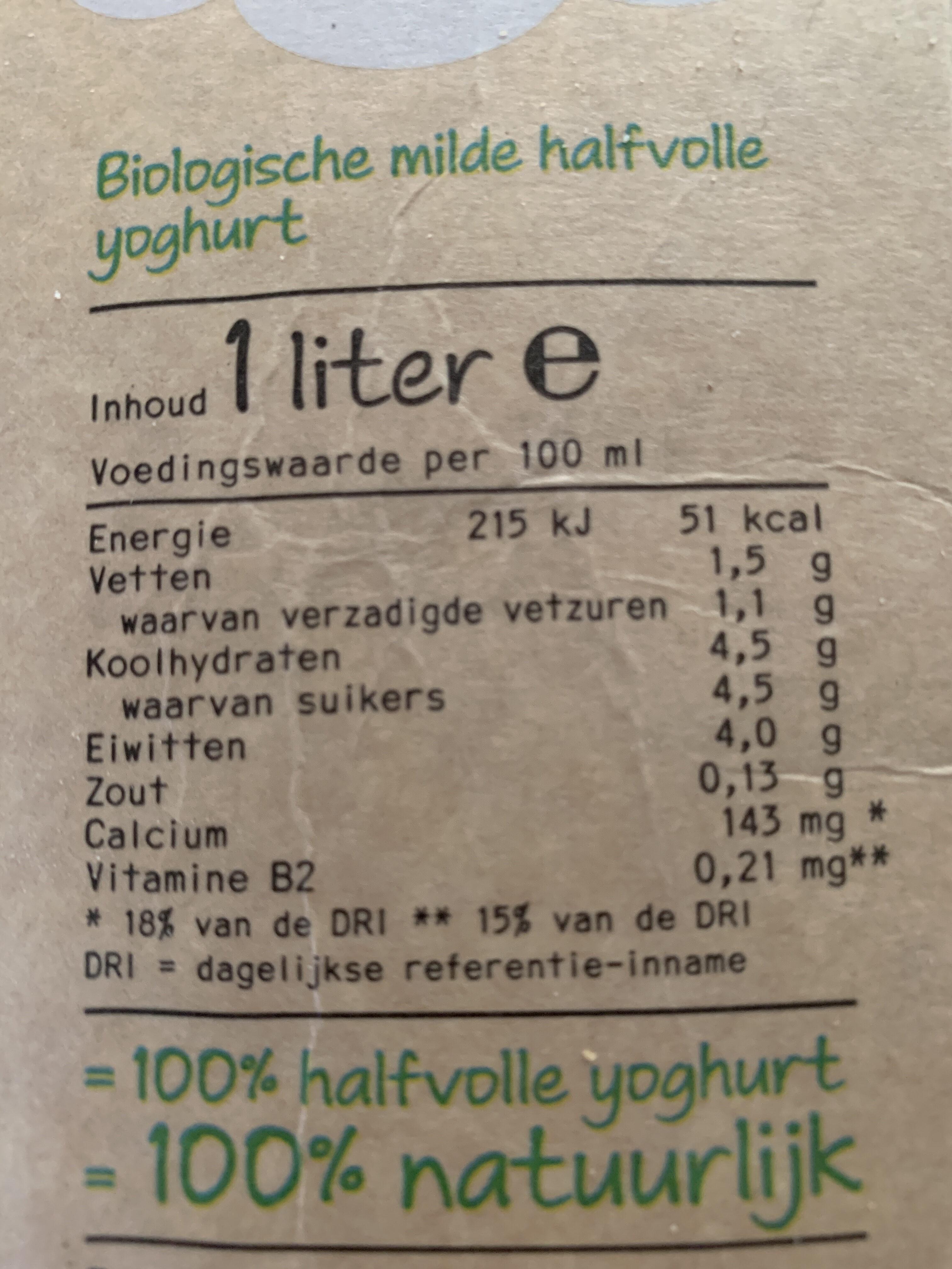 Yoghurt mager - Voedingswaarden - nl