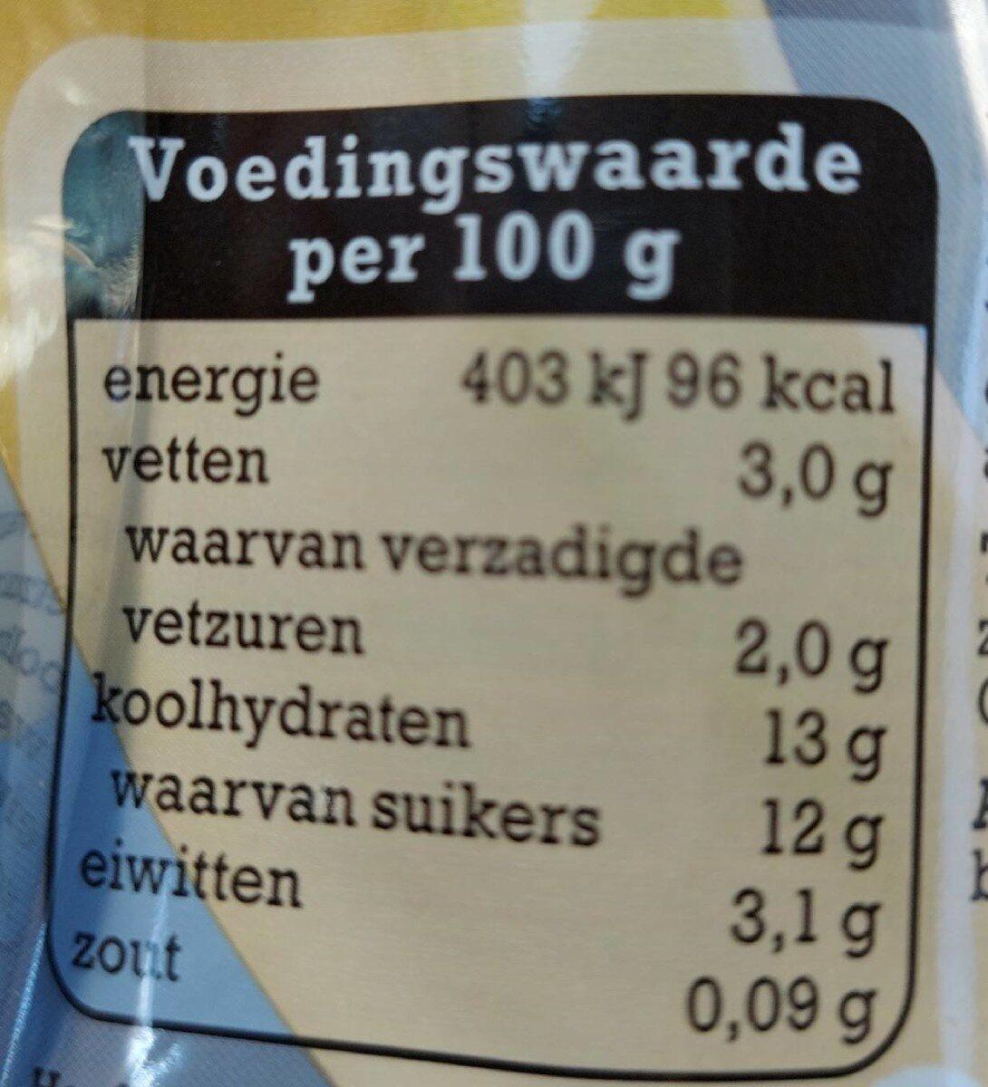 Breaker Banane - Voedingswaarden - nl