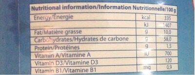 Broli - Informations nutritionnelles - fr