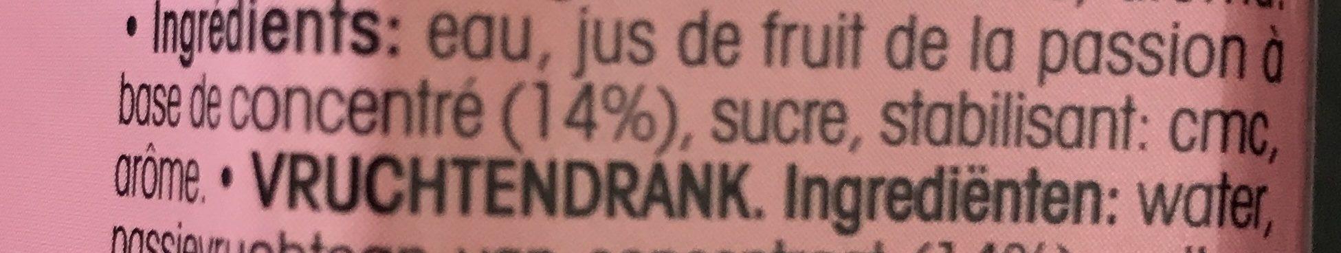 Jus de passion - Ingredients - fr