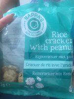 Crackers de riz avec cacahuetes - Produit - fr