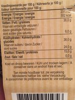 Cranberry Nuss Mischung - Informació nutricional