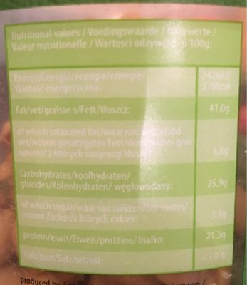 Partymix - Informations nutritionnelles