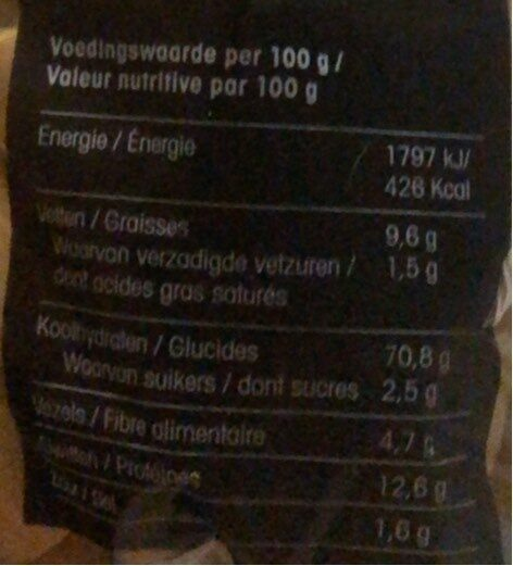 Picos - Nutrition facts - fr